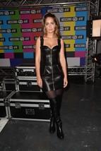 Trendy Style Women Celebrity Replica Casual Sweet Heart Leather Dress   - $180.00