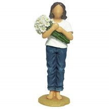 Forever in Blau Jeans 18414 Thinking Of You Mädchen mit / Blumen Figur Neu - $13.27