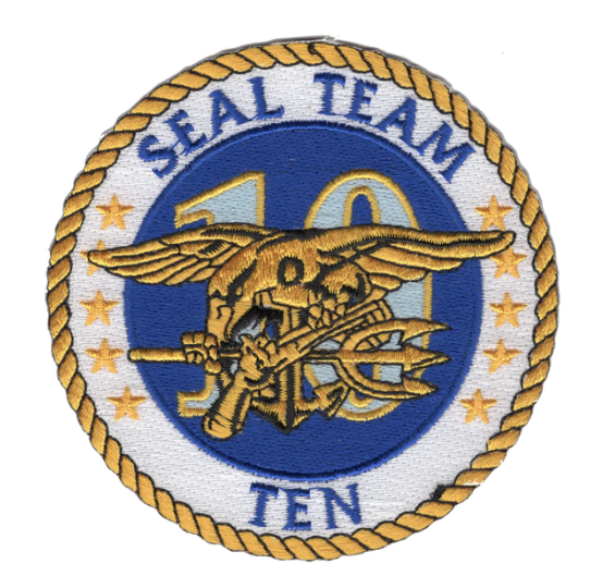 "Primary image for 4"" NAVY SEAL TEAM 10 EMBROIDERED PATCH"