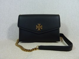 NWT Tory Burch Black Kira Mixed-materials Mini Crossbody Bag $328 - $304.92