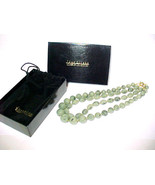 JOAN RIVERS Box Set of 2 Green Art Glass Strand NECKLACES - 19 & 21 inches long - £34.55 GBP