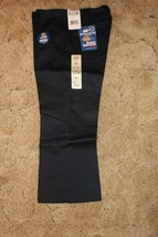 "DICKIES Girl's Junior Navy School Uniform Capri Sz 5 Boot Cut 31"" x  21-... - $14.80"
