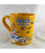 Alice In Wonderland Disney Coffee Mug picnic yellow 14oz - $18.80