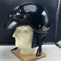 HARLEY DAVIDSON MOTORCYCLE HELMET XS model XT 6 and 5/8 to 3/4 black Lou... - $123.75
