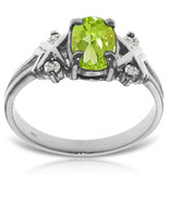 0.97 CTW 14K Solid White Gold Near You Always Peridot Diamond Anniversar... - $546.53