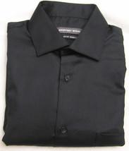 Geoffrey Beene Black Sateen Regular Fit Long Sleeve Dress Shirt - $21.95