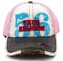 True Religion Men's Premium Cotton Vintage Distressed Trucker Hat Cap TR1690 image 15
