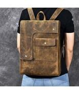 On Sale, Horse Leather Men Backpack, Handmade Laptop Backpack, Vintage T... - $180.00