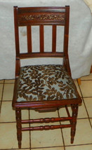 Walnut Carved Eastlake Desk Chair / Sidechair - $299.00