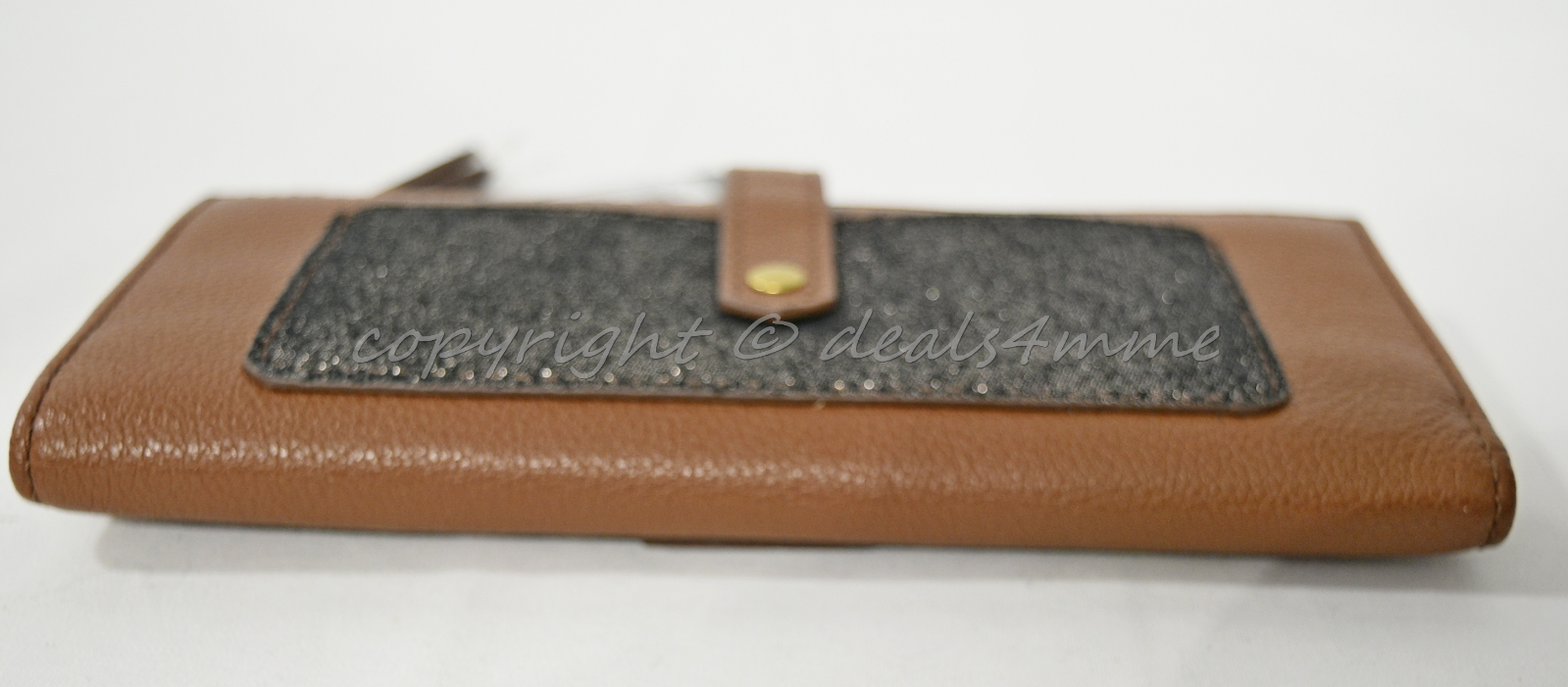 NWT! Fossil Keely Tab Clutch Wallet in Brown Multi