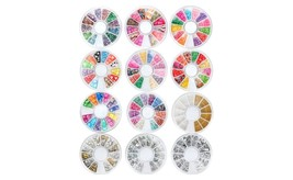 8 or 12 Wheels Combo Set Nail Art Polymer Slices Fimo Decal Accessories