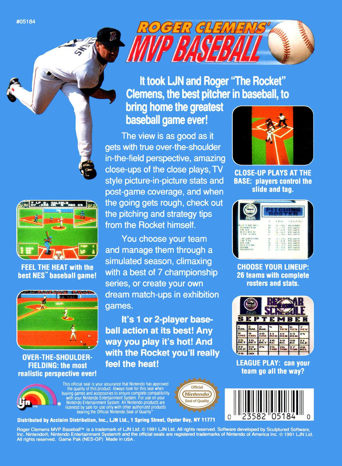 Roger Clemens' MVP Baseball NES Loose