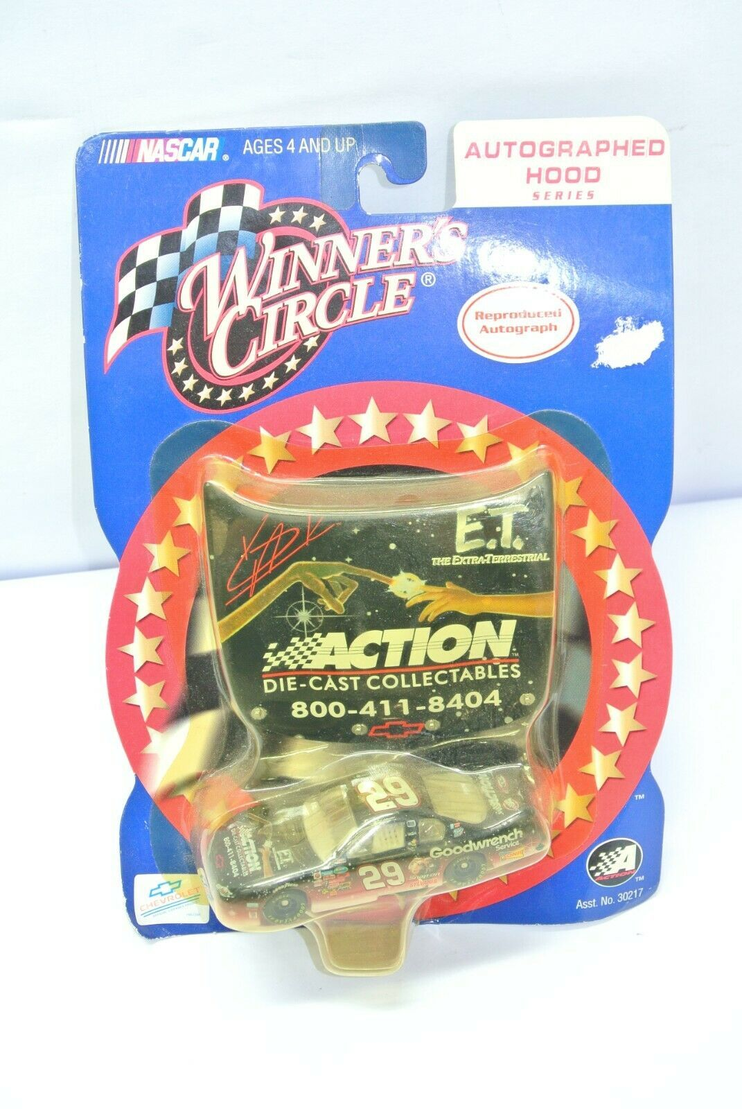 Winners Circle 2001 Kevin Harvick E.T. Action Hood #29 NASCAR 1:64 Die Cast Car - $12.99
