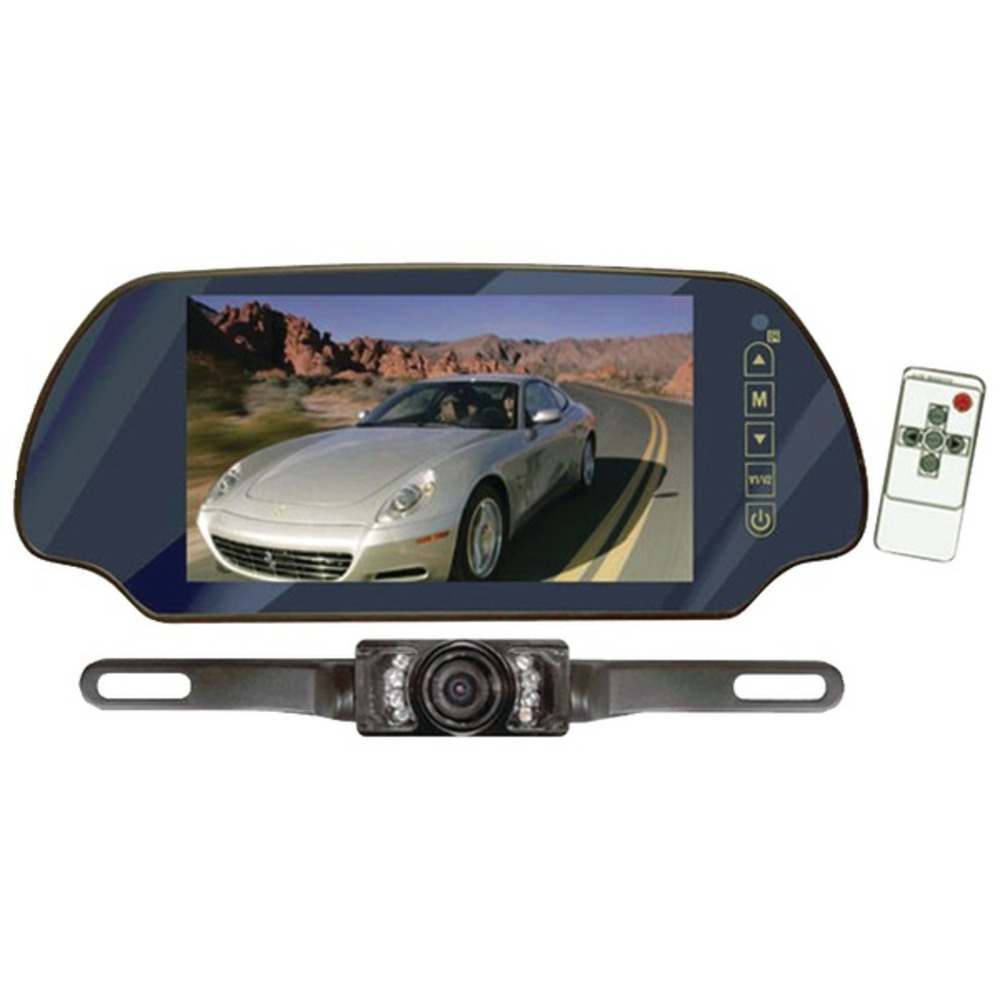 "Primary image for Pyle PLCM7200 7"" LCD Mirror Monitor/Backup Night Vision Camera Kit"