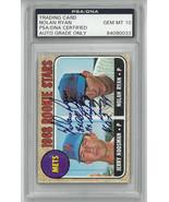 Nolan Ryan signed NY Mets 1968 Topps Rookie Card (RC) #177- PSA Auto Gra... - $1,294.95
