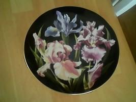 """DANBURY MINT 8"""" IRIS PLATE FLOWER GARDENS OF COUNT BERNADOTTE C1800 - $48.51"""