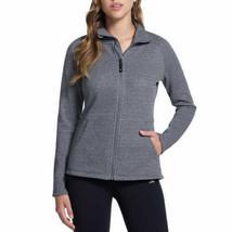 NEW Skechers Heather Grey Women's Snuggle Fleece Full Zip Mock Neck Jacket XL