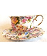 Lovely Two's Company Tea Cup & Saucer Floral Flower Chintz Pattern Teacup - $14.95