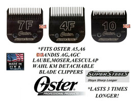 Oster SUPERSTEELS(*Titanium)4F,10,7F Blade*Fit A5,A6,Andis Agc,Wahl Km Clippers - $89.99