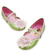 Disney Store Tinkerbell Fairies Costume Shoes Slippers Jeweled Butterfly Slipper - $24.00