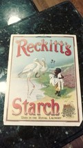 Vtg Reckitt's Starch Cardboard Advertising Sign African Black Americana ... - $214.95