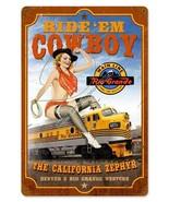 California Zephyr Pin-Up Metal Sign - $29.95