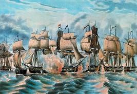 Battle Fleet by Nathaniel Currier - Art Print - $19.99+
