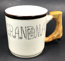 Vintage Lefton Coffee GRANDMA MUG with Antique Boot Handle #3759 Made in... - $18.95