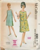 Vintage Sewing Pattern McCall's 6361 Misses Muu Muu 1961 Size 10 - 12 - $6.92