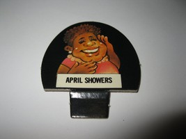 1986 Hollywood Squares Board Game Piece: April Showers Player tab - $1.00