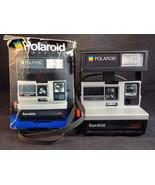 POLAROID INSTANT CAMERA SUN 600 LMS LAND CAMERA Electronic Flash W/ Orig... - $24.74