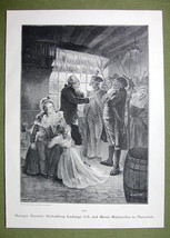 KING LOUIS XVI & Marie Antonette Arrested - VICTORIAN Era Print - $13.49
