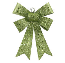 "7"" Lime Green Sequin and Glitter Bow Christmas Ornament - tkcc - FreeShi... - $21.95"