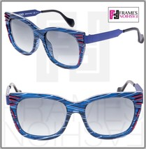 FENDI Thierry Lasry Kinky FF0180S Matte Blue Red Square Metal Sunglasses... - $258.39