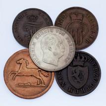 Lotto di 5 Tedesco Dichiara Monete 1832 - 1872 Ottime Condizioni - XF Co... - $74.23