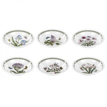 Portmeirion Botanic Garden soup plates Set/9 Assorted MOTIFS MADE IN ENG... - $888.90