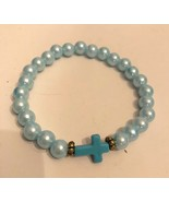 Teal Cross Bracelet. Help Support Wounded Warrior - $4.55