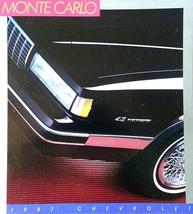 1987 Chevrolet MONTE CARLO sales brochure catalog US 87 SS Chevy - $8.00
