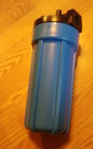 10 inch x 1 inch blue water filter housing image 2