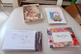 20 Thank you cards and envelops in 4 different designs - $9.50