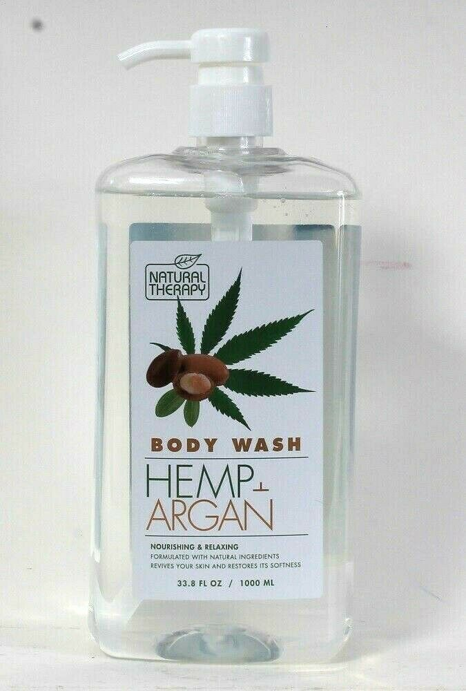 Primary image for 1 Bottle Natural Therapy 33.8 Oz Hemp & Argan Nourishing Relaxing Body Wash