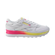 Reebok Classic Leather MU Women's Shoes White-Pink-Navy-Shadow FZ0827 - $55.20