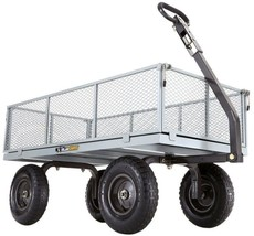 Utility Yard Cart 1000 lb. Load Capacity Removable Side Panels Pneumatic... - $2.551,28 MXN