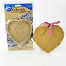"Brown Bag Art 6"" w/ Recipe Book & Wilton 5"" Clay Cookie Mold Set 2 Heart... - $16.82"