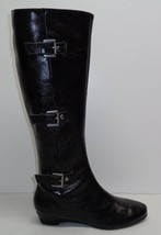 Aerosoles Size 6.5 M SARASOTA Black Smooth Knee High Boots New Womens Shoes - $117.81