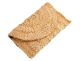 Straw Clutch Summer Evening Handbag Beach Purse Woven Straw Bag Envelope - $14.65