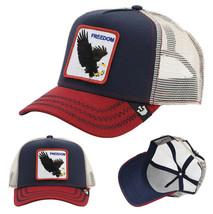 Goorin Bros Snapback Mesh Cap Navy Let It Ring Freedom Eagle Trucker Hat 1010563 image 1