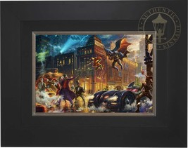 Thomas Kinkade DC Dark Knight Saves Gotham City 12 x 18 LE S/N Canvas Framed - $750.00