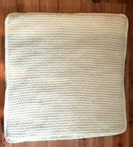 Pottery Barn Thermal Knit W/SHERPA Back Pillow Cover Ivory New With Tag #P164 - $24.00