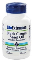 3 PACK Life Extension Black Cumin Seed Oil and Curcumin Elite™ Turmeric ... - $51.00